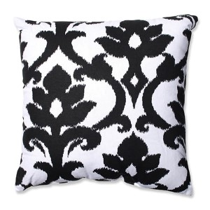 Azzure Black and White 18-Inch Square Throw Pillow