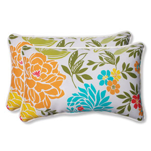 Spring Bling Multicolor Rectangular Outdoor Throw Pillow, Set of 2