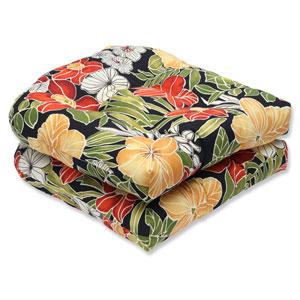 Clemens Noir Wicker Outdoor Seat Cushion, Set of 2
