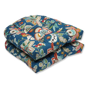 Telfair Peacock Wicker Outdoor Seat Cushion, Set of 2