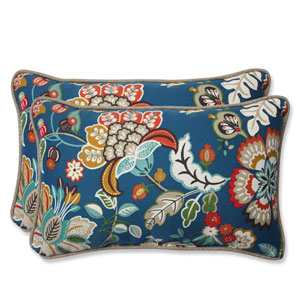 Telfair Peacock Rectangular Outdoor Throw Pillow, Set of 2