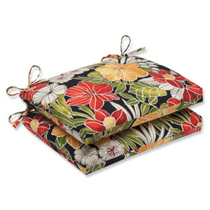 Clemens Noir Squared Corners Outdoor Seat Cushion, Set of 2