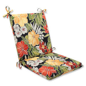 Clemens Noir Squared Corners Outdoor Chair Cushion Cushion