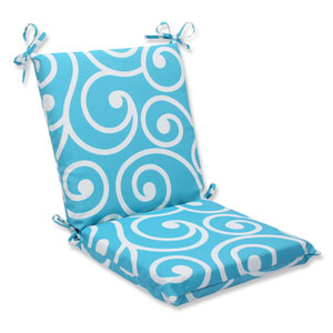 Best Turquoise Squared Corners Outdoor Chair Cushion Cushion