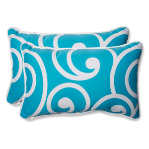 Best Turquoise Rectangular Outdoor Throw Pillow, Set of 2
