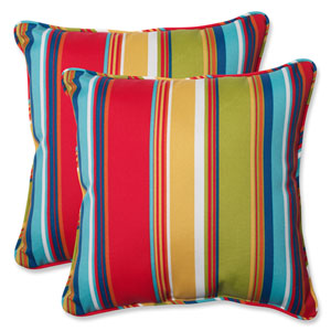 Westport Garden 18.5-Inch Outdoor Throw Pillow, Set of 2
