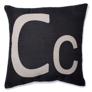 Initial C 18-inch Throw Pillow