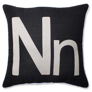 Initial N 18-inch Throw Pillow