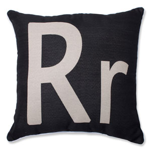 Initial R 18-inch Throw Pillow