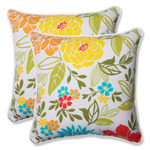 Spring Bling Multicolor 18.5-inch Outdoor Throw Pillow, Set of 2