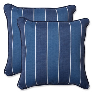 Wickenburg Indigo 18.5-inch Outdoor Throw Pillow, Set of 2