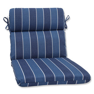 Wickenburg Indigo Rounded Corners Outdoor Chair Cushion Cushion