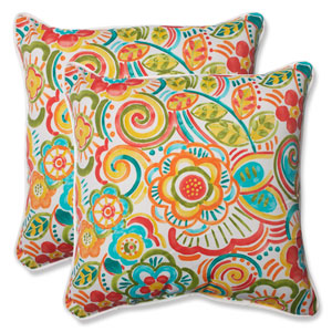 Bronwood Carnival 18.5-inch Outdoor Throw Pillow, Set of 2