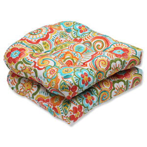 Bronwood Carnival Wicker Outdoor Seat Cushion, Set of 2