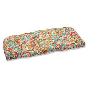 Bronwood Carnival Wicker Outdoor Loveseat Cushion