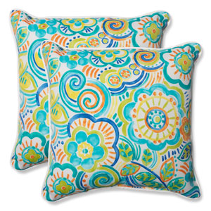 Bronwood Caribbean 18.5-Inch Outdoor Throw Pillow, Set of 2