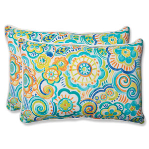 Bronwood Caribbean Over-sized Rectangular Outdoor Throw Pillow, Set of 2