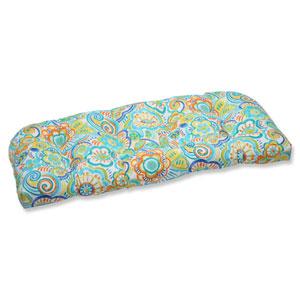 Bronwood Caribbean Wicker Outdoor Loveseat Cushion