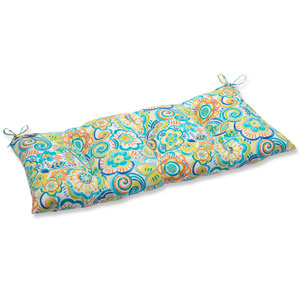 Bronwood Caribbean Wrought Iron Outdoor Loveseat Cushion