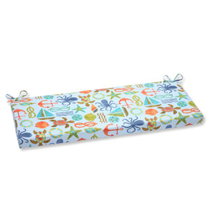 Seapoint Blue Summer Outdoor Bench Cushion