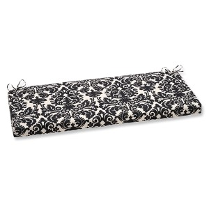 Essence Black and Beige Outdoor Bench Cushion