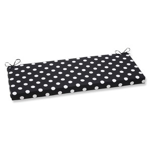 Polka Dot Black Outdoor Bench Cushion