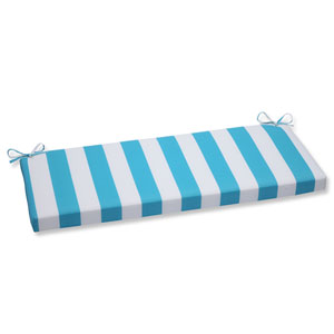Cabana Stripe Turquoise Outdoor Bench Cushion