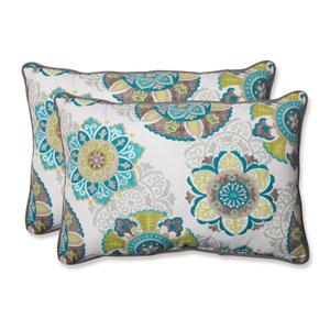 Allodala Oasis Over-sized Rectangular Outdoor Throw Pillow, Set of 2