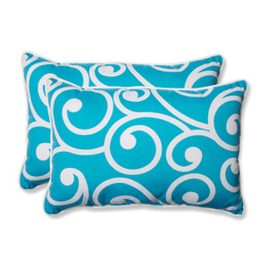 Best Turquoise Over-sized Rectangular Outdoor Throw Pillow, Set of 2