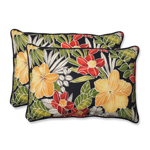 Clemens Noir Over-sized Rectangular Outdoor Throw Pillow, Set of 2