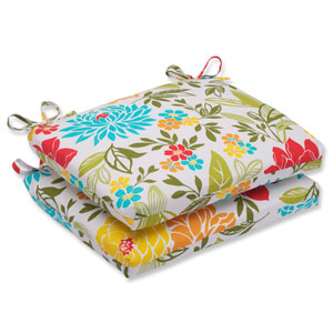 Spring Bling Multicolor Squared Corners Outdoor Seat Cushion, Set of 2