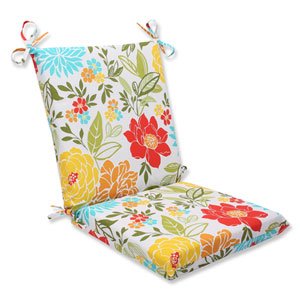Spring Bling Multicolor Squared Corners Outdoor Chair Cushion Cushion