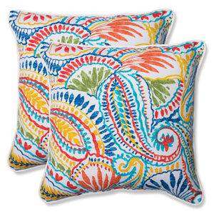 Ummi Multicolor 18.5-Inch Outdoor Throw Pillow, Set of 2