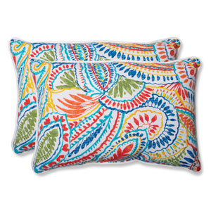 Ummi Multicolor Over-sized Rectangular Outdoor Throw Pillow, Set of 2