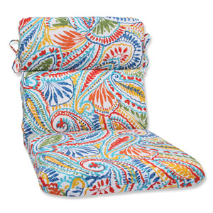 Ummi Multicolor Rounded Corners Outdoor Chair Cushion Cushion