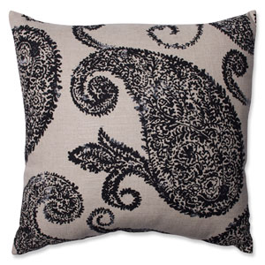 Henley Black and Tan 16.5-Inch Throw Pillow