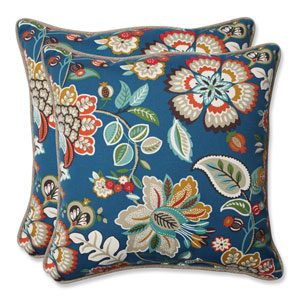 Telfair Peacock 18.5-Inch Outdoor Throw Pillow, Set of 2