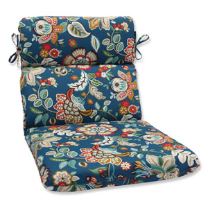 Telfair Peacock Rounded Corners Outdoor Chair Cushion Cushion