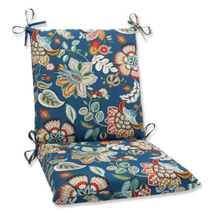 Telfair Peacock Squared Corners Outdoor Chair Cushion Cushion