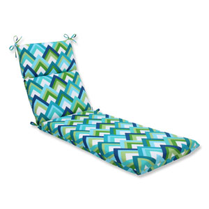 Resort Peacock Outdoor Chaise Lounge Cushion
