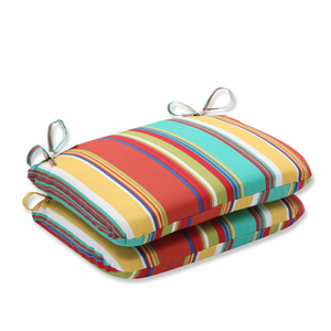 Westport Spring Rounded Corners Outdoor Seat Cushion, Set of 2