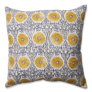 Riya Yellow 16.5-Inch Throw Pillow