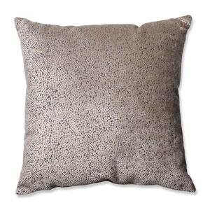 Tuscany Dots Flax Cut Velvet 24.5-inch Floor Pillow