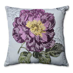 Purple Flower 16.5-Inch Throw Pillow