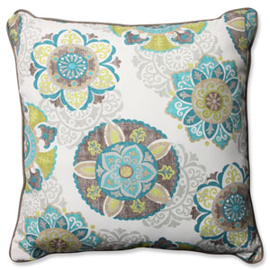 Allodala Oasis Blue 25-inch Outdoor Floor Pillow