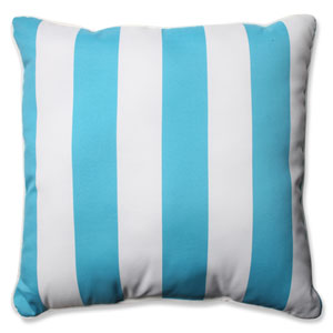 Cabana Stripe Turquoise 25-inch Outdoor Floor Pillow