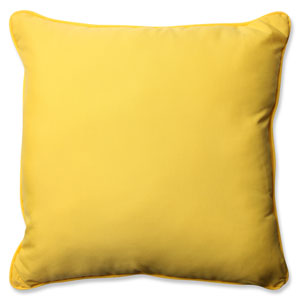 Fresco Solids Yellow 25-inch Outdoor Floor Pillow