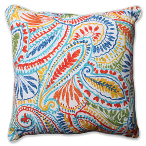 Ummi Multicolor 25-Inch Outdoor Floor Pillow