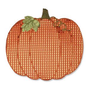 Orange Pumpkin Placemat, Set of Two