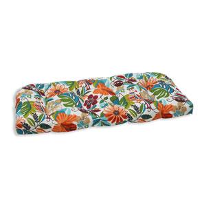 Outdoor Lensing Jungle Wicker Loveseat Cushion